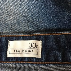 GAP Jeans - GAP Real Straight Thunderstruck Deconstructed -30R